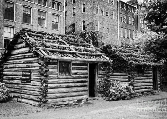 Fort Greeting Card featuring the photograph fort nashborough stockade recreation Nashville Tennessee USA by Joe Fox