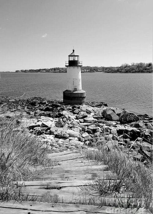 Salem Greeting Card featuring the photograph Fort Pickering Light by Catherine Reusch Daley