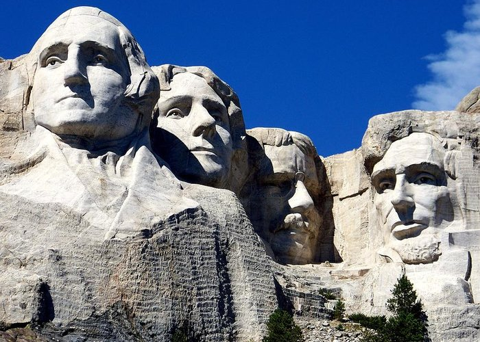 Ymount Rushmore Greeting Card featuring the photograph Fortitude In America by Karen Wiles