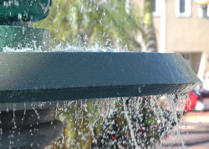 Fountain Greeting Card featuring the photograph Fountain 2 by Susie Carr