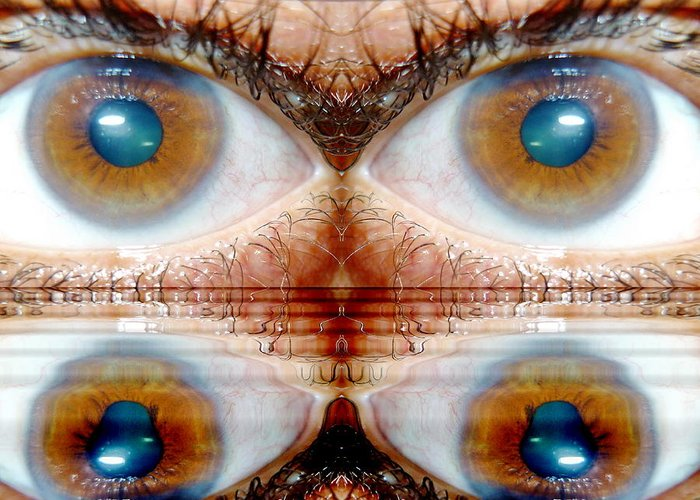 Eyes Greeting Card featuring the photograph Four Eyes by Beto Machado