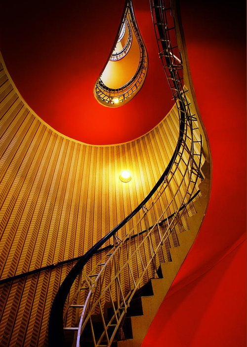 Staircase Greeting Card featuring the photograph Four Flights by John Galbo
