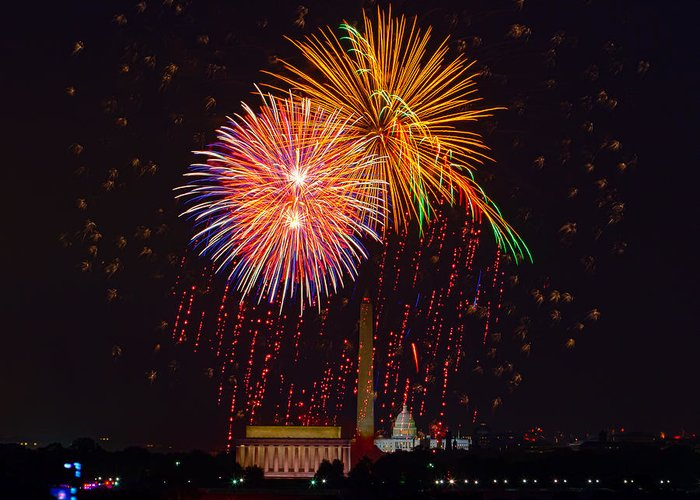 4th Of July Greeting Card featuring the photograph Fourth Of July by David Hahn