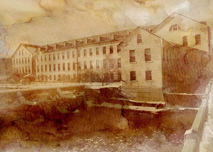 Fox River Mills Greeting Card featuring the photograph Fox River Mills by Joel Witmeyer