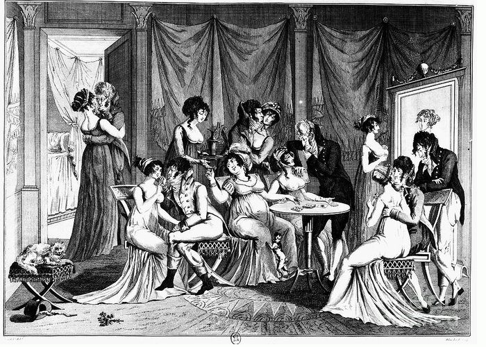 1802 Greeting Card featuring the photograph France: Consulate Life by Granger