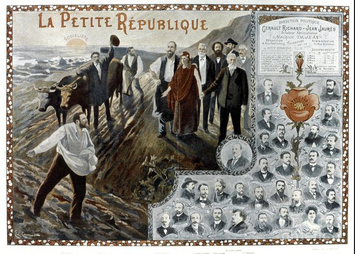 1900 Greeting Card featuring the photograph France: Socialism, 1900 by Granger