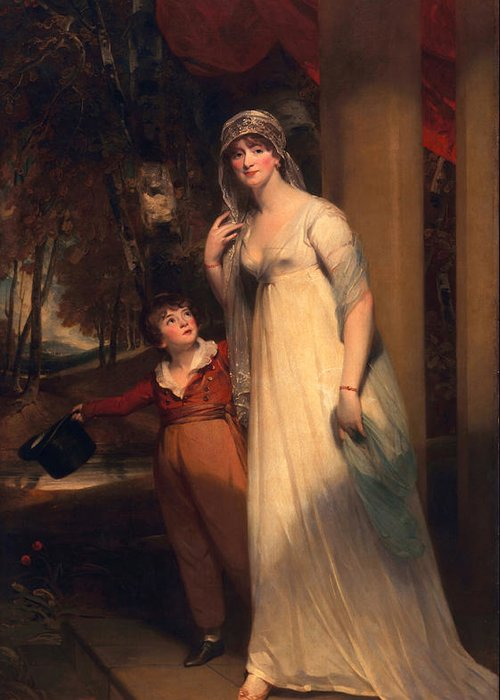 Male Greeting Card featuring the painting Frances Borlase Later Frances Grenfell And Pascoe George Norman Grenfel by Sir Martin Archer Shee