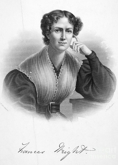 19th Century Greeting Card featuring the photograph Frances Wright (1795-1852) by Granger