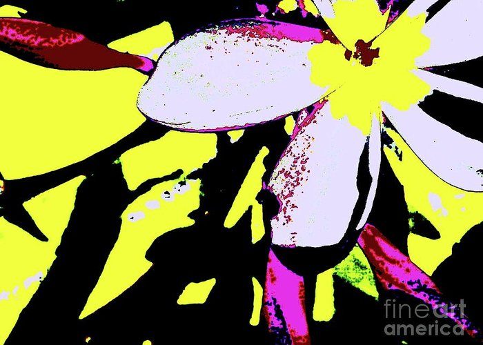 Digital Art Greeting Card featuring the digital art Frangipani 0856 24 by Nina Kaye