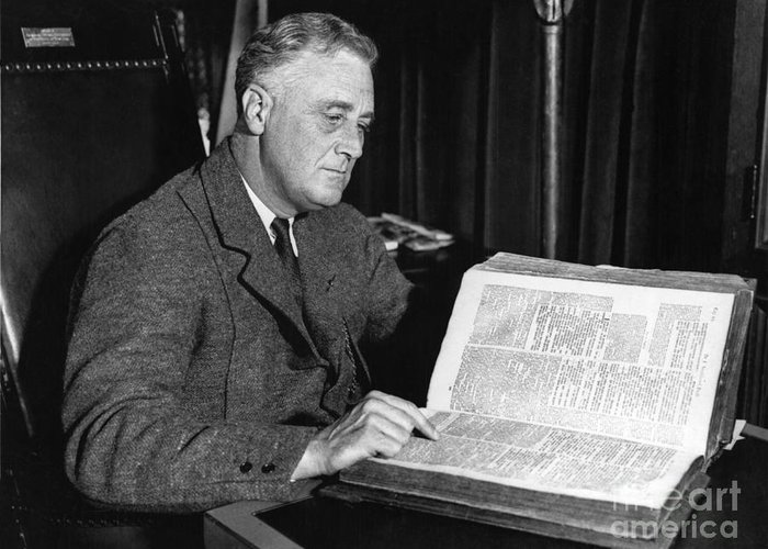 History Greeting Card featuring the photograph Franklin D. Roosevelt, 32nd American by Photo Researchers