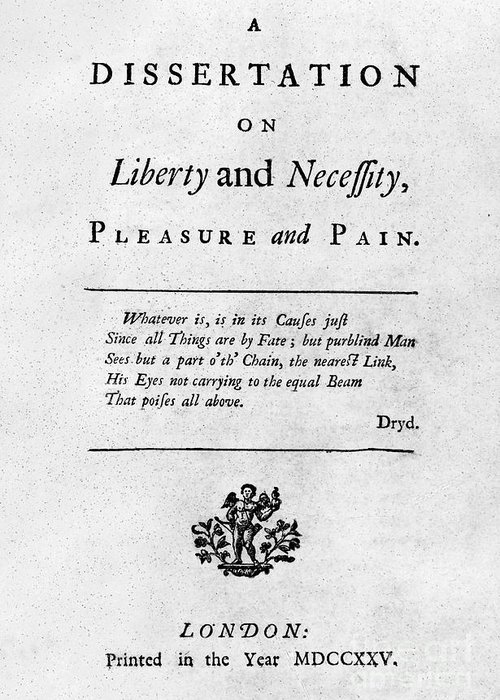 1725 Greeting Card featuring the photograph Franklin: Title Page, 1725 by Granger