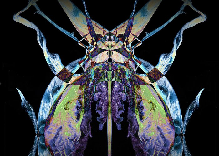 Psychedelic Greeting Card featuring the photograph Freaky Bug Plant by David Kleinsasser