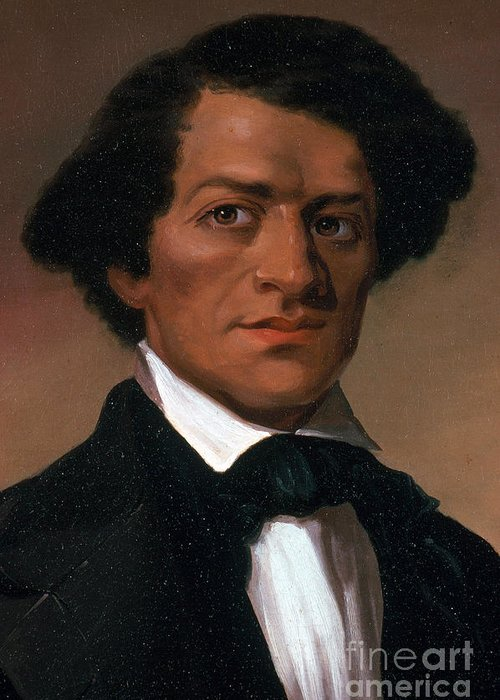 History Greeting Card featuring the photograph Frederick Douglass, African-american by Photo Researchers