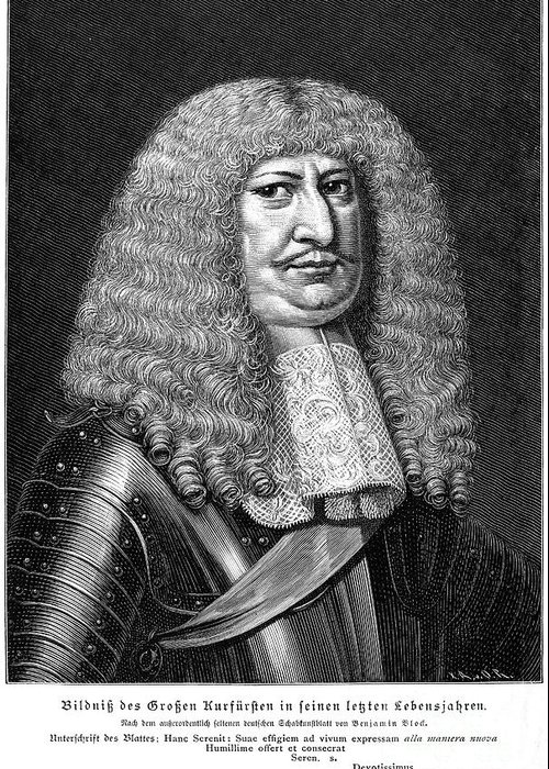 Brandenburg Greeting Card featuring the photograph Frederick William (1620-1688) by Granger
