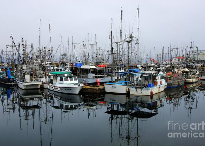 Fishing Boats Greeting Card featuring the photograph French Creek by Bob Christopher