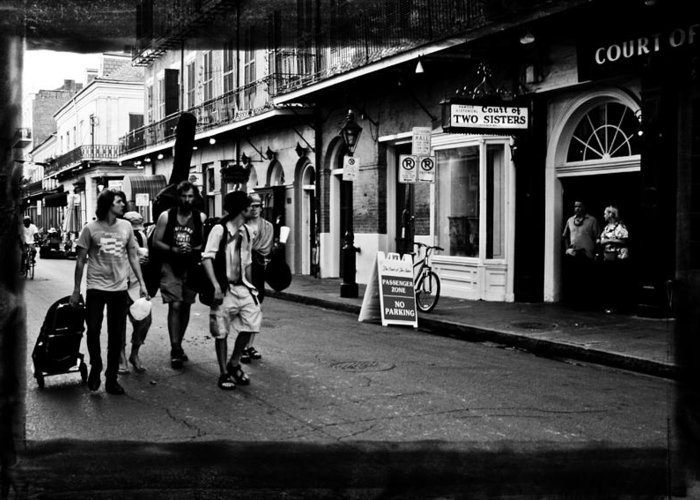 New Orleans Greeting Card featuring the photograph French Quarter Commute by Linda Kish