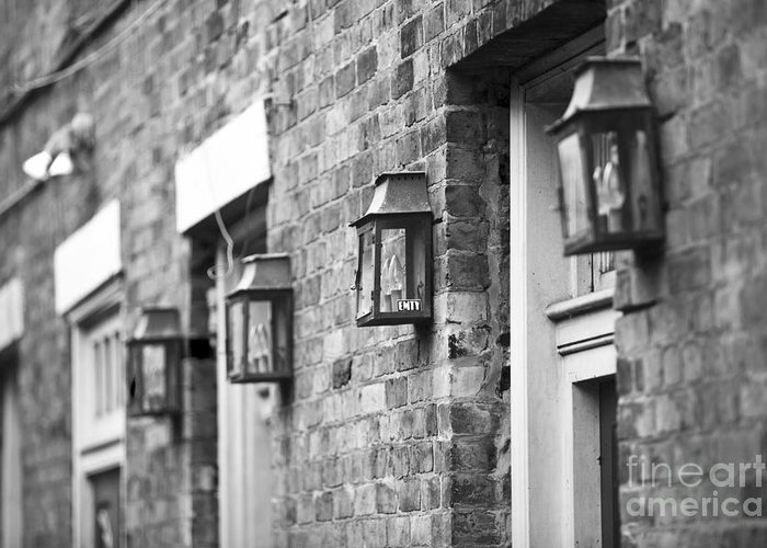 New Orleans Greeting Card featuring the photograph French Quarter Lamps by Leslie Leda
