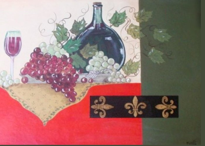 Wine Greeting Card featuring the painting French Wine by Cindy Micklos