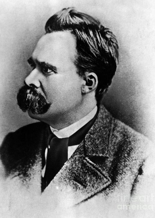 History Greeting Card featuring the photograph Friedrich Wilhelm Nietzsche, German by Omikron