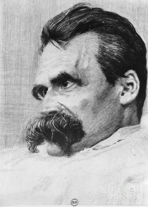 History Greeting Card featuring the photograph Friedrich Wilhelm Nietzsche, German by Photo Researchers