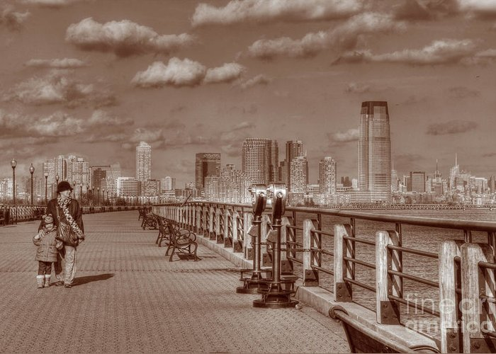 Sepia Greeting Card featuring the photograph Friends Sepia by Lee Dos Santos