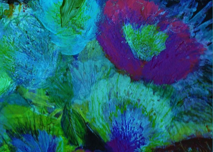Flowers Greeting Card featuring the mixed media From My Heart Of Rising Passion by Anne-Elizabeth Whiteway