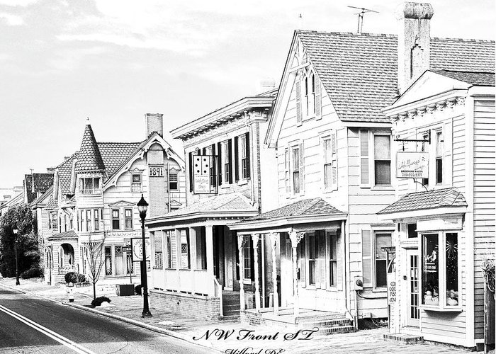 Front St Greeting Card featuring the photograph Front St. Milford De by Fred Kirchhoff