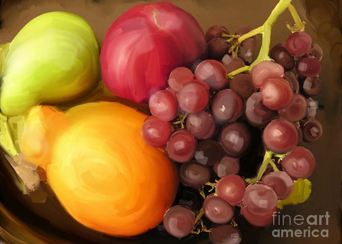 Fruit Greeting Card featuring the photograph Fruit Aplenty by Anne Ferguson
