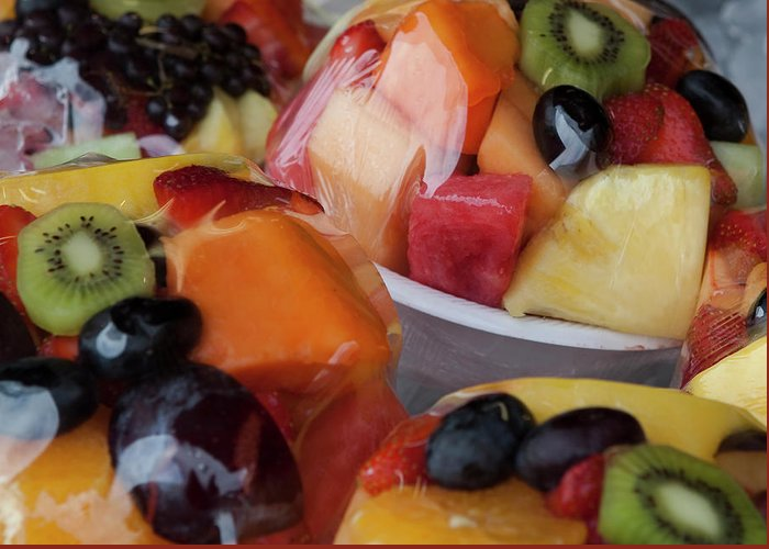 Fruit Cup Greeting Card featuring the photograph Fruit Cup by Lorraine Devon Wilke