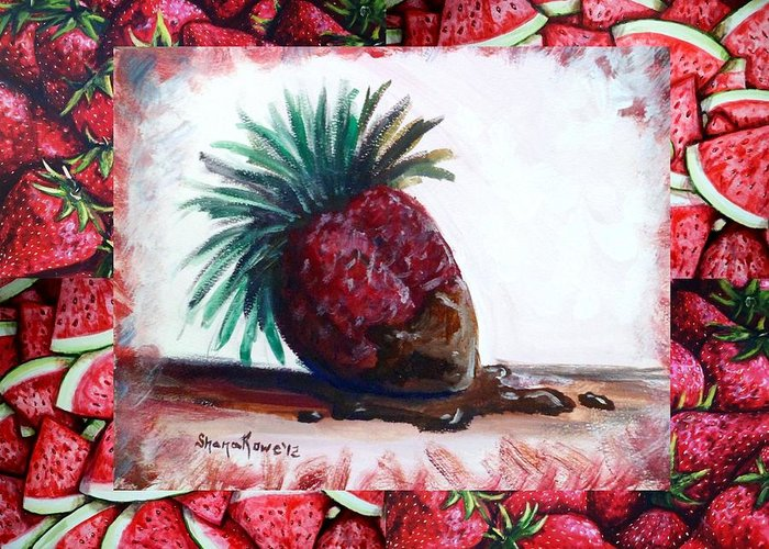 Strawberry Greeting Card featuring the painting Fruit Fusion by Shana Rowe Jackson