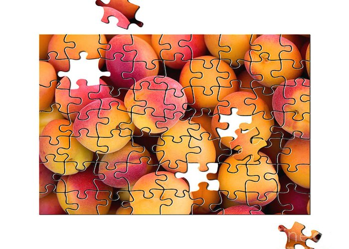 Apricot Greeting Card featuring the photograph Fruit Jigsaw1 by Jane Rix