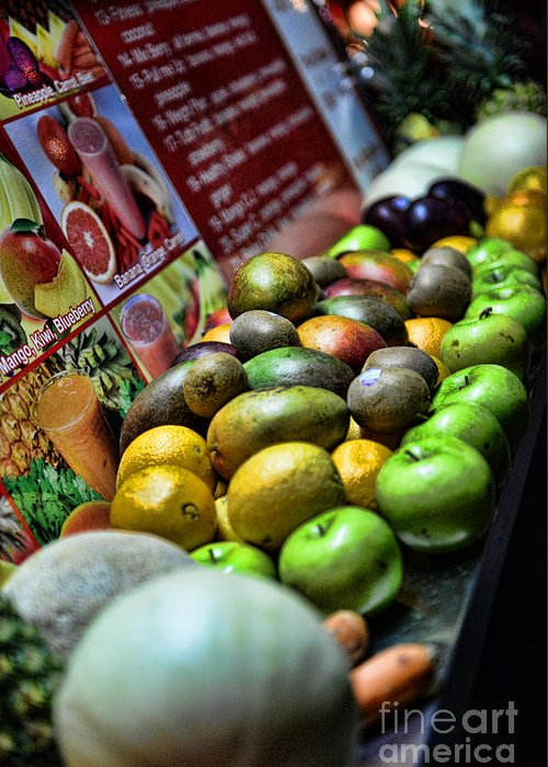 Fruit Greeting Card featuring the photograph Fruit Stand by Paul Ward