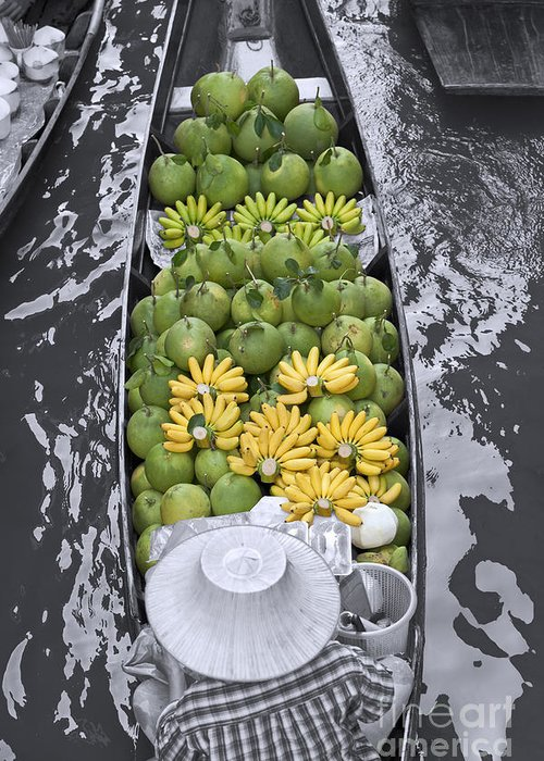 Asia Greeting Card featuring the photograph Fruits by Roberto Morgenthaler