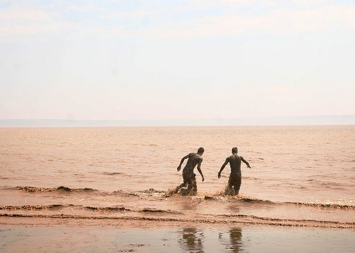 Mud Greeting Card featuring the photograph Fundy Bay New Brunswick Canada by Isabel Poulin