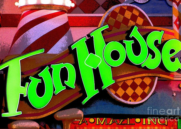 Fun House Greeting Card featuring the photograph Funhouse by Colleen Kammerer