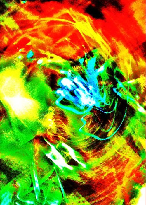 Abstract Greeting Card featuring the digital art Gagaland by George Aubut