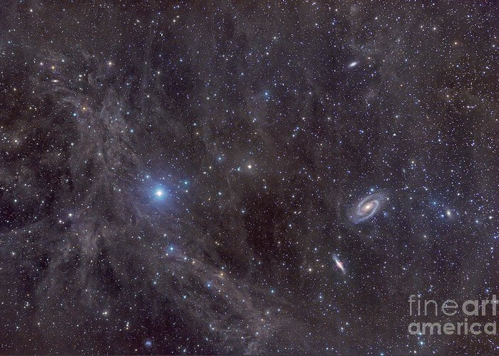Astronomy Greeting Card featuring the photograph Galaxies M81 And M82 As Seen by John Davis