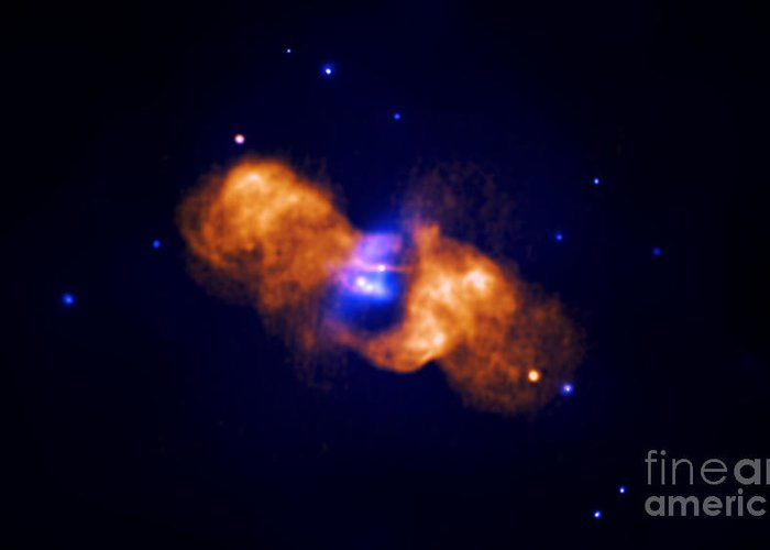Chandra Greeting Card featuring the photograph Galaxy Collision by Nasa