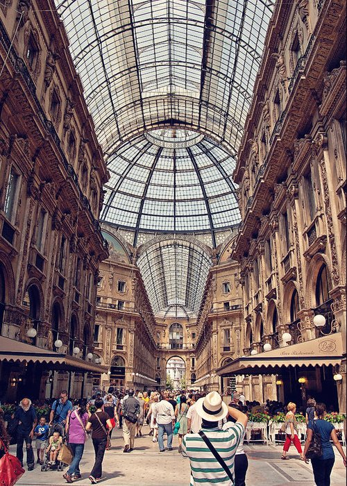 Italy Greeting Card featuring the photograph Galleria Vittorio Emanuele by Benjamin Matthijs