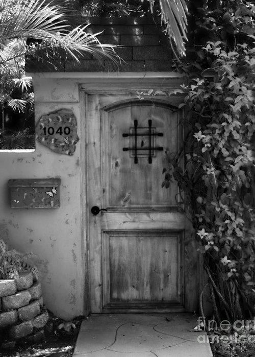 Door Greeting Card featuring the photograph Garden Doorway 2 by Perry Webster