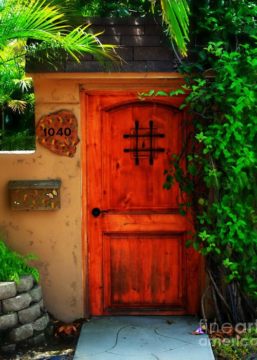 Door Greeting Card featuring the photograph Garden Doorway by Perry Webster
