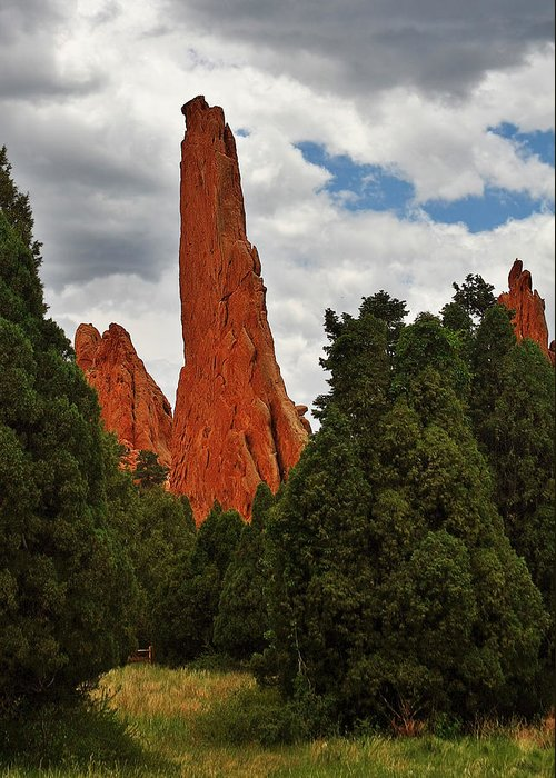Manitou Springs Greeting Card featuring the photograph Garden Of The Gods - A Breathtaking Natural Wonder by Christine Till