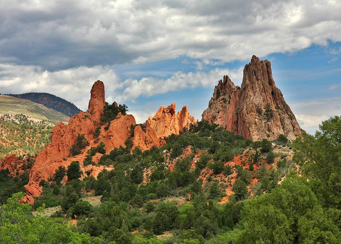 Natural Greeting Card featuring the photograph Garden Of The Gods - Colorado Springs Co by Christine Till