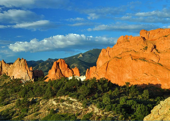 Park Greeting Card featuring the photograph Garden Of The Gods Front Side View by Gene Sherrill
