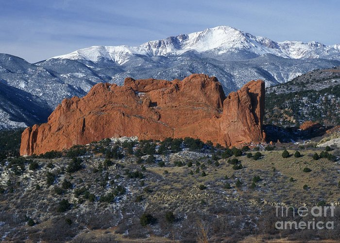Bronstein Greeting Card featuring the photograph Garden Of The Gods by Sandra Bronstein