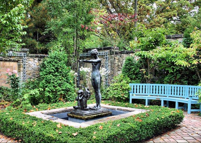 Garden Greeting Card featuring the photograph Garden Statuary by Kristin Elmquist