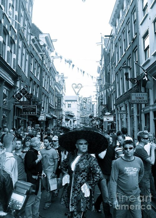 Amsterdam Greeting Card featuring the photograph Gay Parade by Jessica Smeira
