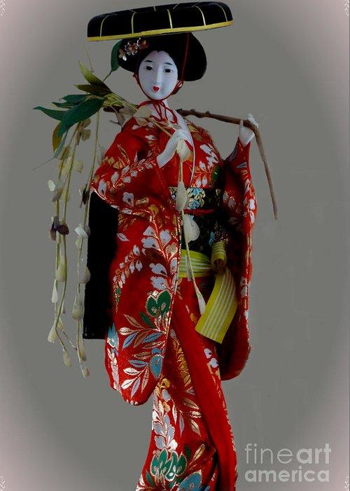 Al Bourassa Greeting Card featuring the photograph Geisha Elegance by Al Bourassa