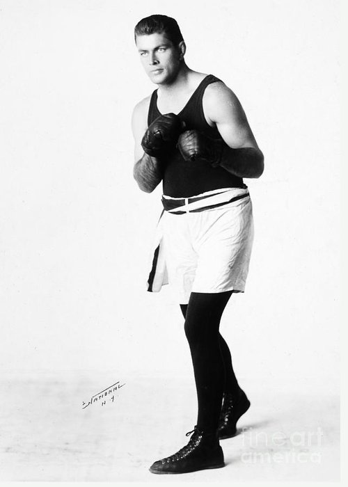1926 Greeting Card featuring the photograph Gene Tunney (1898-1978) by Granger