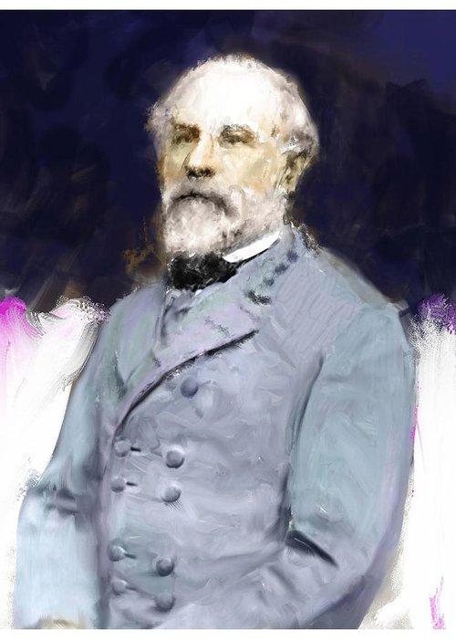 Civil War Greeting Card featuring the digital art General Lee by James VerDoorn